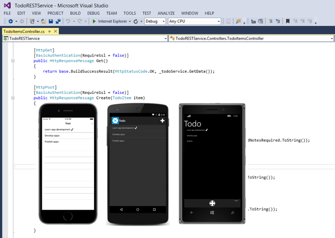 Call a REST Web Service With Xamarin Platform (For PCL And